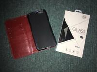 IPhone wallet case and screen protector