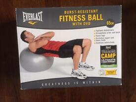 Everlast Burst Resistant Fitness Ball with DVD