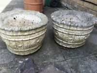 Two Stone plant pots