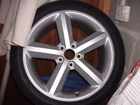 Audi A4 Ronal Alloy and Tyre