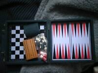 Debenhams 5 in 1 Game Case-Leather Vintage Travel Brand New