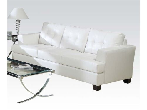 Platinum Sofa White Color Bonded Leather Sofa Couch Living Room Home Furniture