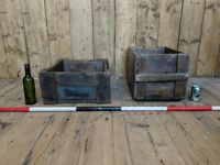 FRENCH vintage crates storage decorative boxes industrial patina gplanera