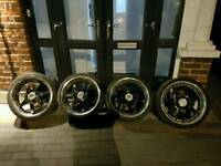 18 inch Lenzo Deep Dish Alloy wheels with 7mm tyres 5X112 AUDI VW SEAT SKODA 5 stud