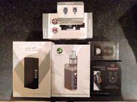 Various Vape Ecig Batteries Mods and Atomizers