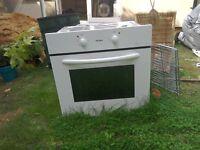 White Bush built-in single oven.