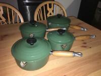 Le Creuset 4 pans and lids