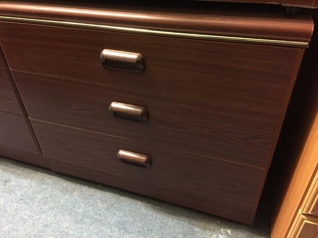 Mahogany effect chest of drawers