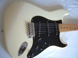 Fender Squier Silver Series Stratocaster electric guitar - Japan - '92-'94 - Olympic White