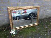 VINTAGE GILTED MIRROR FREE DELIVERY GOOD CONDITION