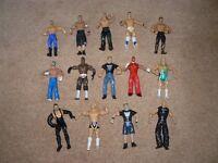 LOADS OF WWE FIGURES.14 ITEMS