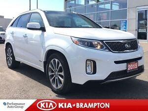 2015 Kia Sorento SX NAVIGATION LEATHER SUNROOF BLUETOOTH LOADED!