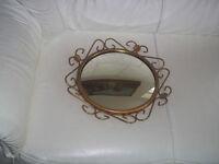 Vintage Convex Mirror 38 cm