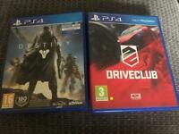 Driveclub and Destiny PS4