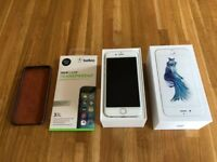 i phone 6s, 64Gb, silver with accessories