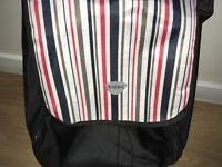 Hoppa folding lightweight shopping trolley shopping bag on wheels (Black ST90 (51L))