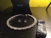 Coast silver jewellery set