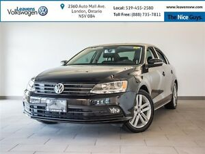 2015 Volkswagen Jetta TDI Highline+LTHR+HEATED SEATS+SUNROOF+BLU