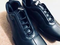 PRADA-Leather Shoes sneakers Size 7UK 8US NEW