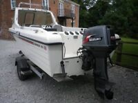 boat, warrior 165 with a 60HP outboard engine
