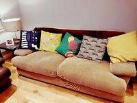 Large beige sofa