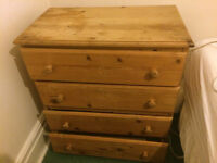 Pine Chest of Drawers (COD) - 4 draw
