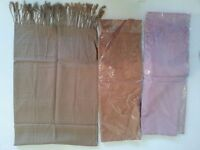 100% ORGANIC SILK SHAWLES, SCARVES AND HANGBAGS