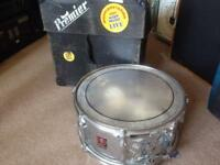 Vintage Premier Steel Snare Drum 14x5 With Case