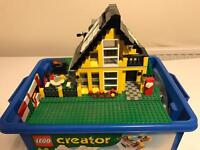 Box of mixed Lego with vintage pieces