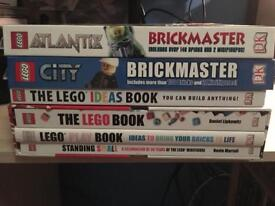 Lego books (includes Lego pieces)