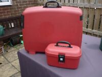 Delsey Suitcase and Vanity Case