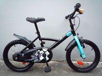 "(2142) 16"" Lightweight Steel B'TWIN Boys Girls Kids Childs Bike Bicycle Age: 4-6 Height: 105-120cm"