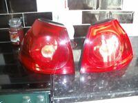 vw golf mk5 rear lights