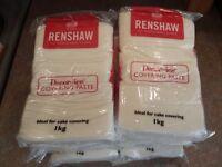 8x 1kg Renshaw Professional white icing /fondant/ cake decorating