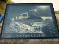 "Vintage (1990) Athena® Large Black Framed Poster / Print Picture - ""Antarctica"" by Doug Allan – VGC"