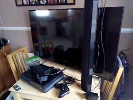JVC 49inch with Xbox one and games