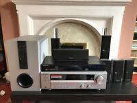 KENWOOD HOME THEATRE KRF-V6100D& BLU-RAY PLAYER