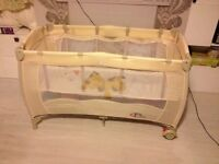 baby cot, baby bed, travel bed £30