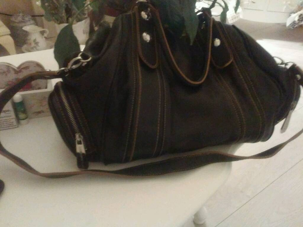 Large maxx new york leather bag SOLD