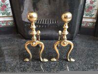 Fireplace Brass Andirons