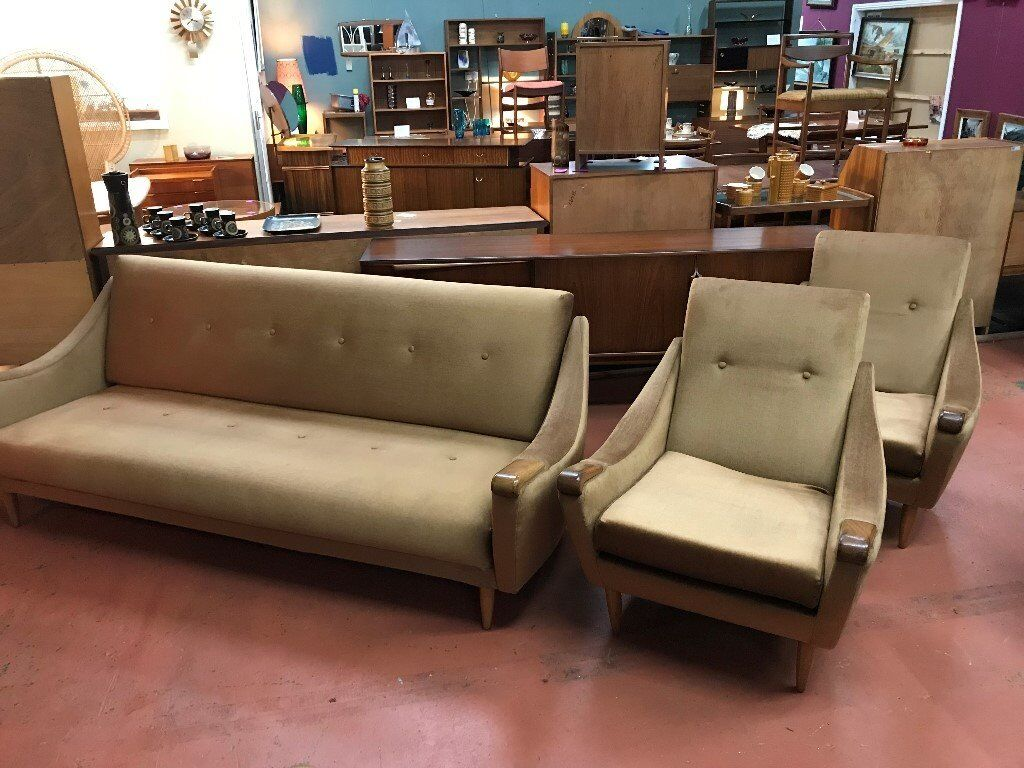 3 Piece Suite by Greaves & Thomas. Retro Vintage Mid Century