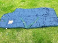 6ft OLYMPIAN QUILTED STABLE RUG - Navy