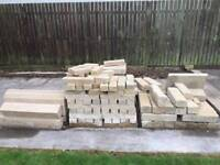 Selection of stone brick and lintels