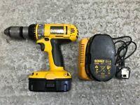 Dewalt XPR 18V Hammer Drill plus charger & 2 x batteries