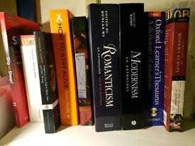Books(undergrad english student)