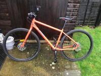 Pinnacle lithium 5 hybrid mountain/road bike 2018 orange frame size medium RRP695 £550