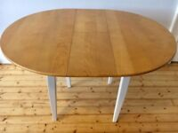 Oak and White Extending John Lewis Dining Table (Seats 4/6)