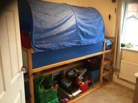 Ikea Kura Reversable Childrens Bed, complete with Kura bed tent