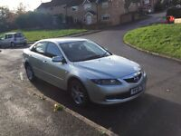Mazda 6 55 reg in silver with long mot ,first to drive will buy ,px welcome
