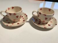 Emma Bridewater Teacups and Saucers